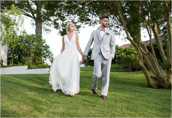 The Tides Inn Virginia Wedding Inspiration as seen on Hill City Bride Blog by Will Hawkins Photography - bride, groom