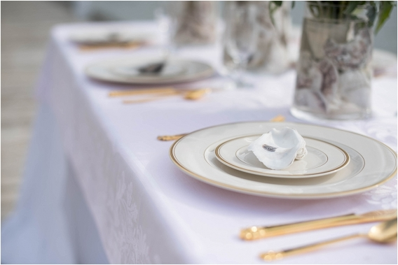 The Tides Inn Virginia Wedding Inspiration as seen on Hill City Bride Blog by Will Hawkins Photography - place setting, tablescape