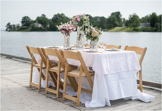 The Tides Inn Virginia Wedding Inspiration as seen on Hill City Bride Blog by Will Hawkins Photography - reception, catering, food, table