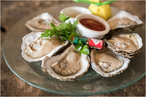 The Tides Inn Virginia Wedding Inspiration as seen on Hill City Bride Blog by Will Hawkins Photography - oysters, catering, food