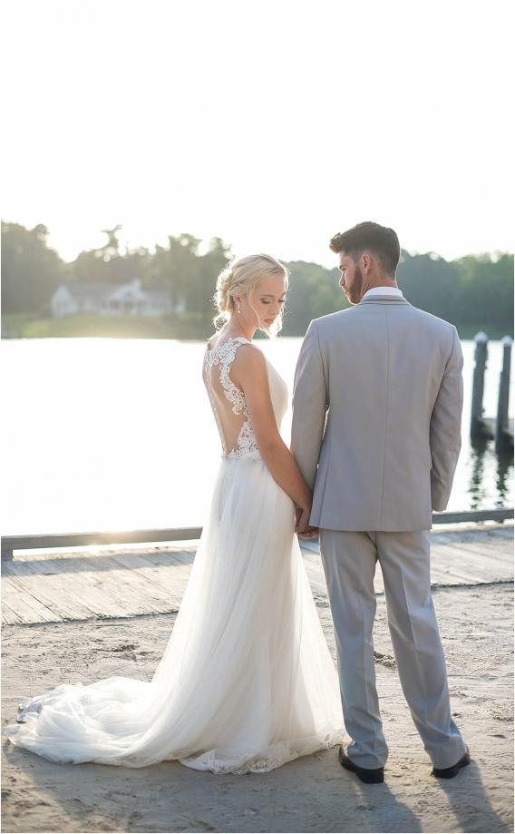 The Tides Inn Virginia Wedding Inspiration as seen on Hill City Bride Blog by Will Hawkins Photography - couple, style shoot, editorial, married