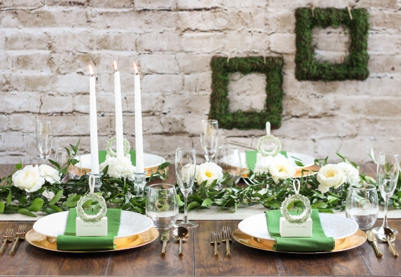 English Countryside Bridal Shower Greenery Favors Decor as seen on Hill City Bride Virginia Wedding Blog