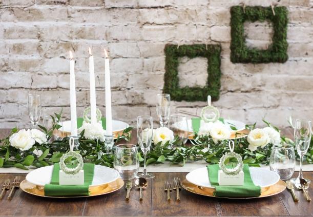 English Countryside Bridal Shower Greenery Favors Decor as seen on Hill City Bride Virginia Wedding Blog
