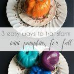 DIY - 3 Easy Ways to Transform Mini Pumpkins for Fall