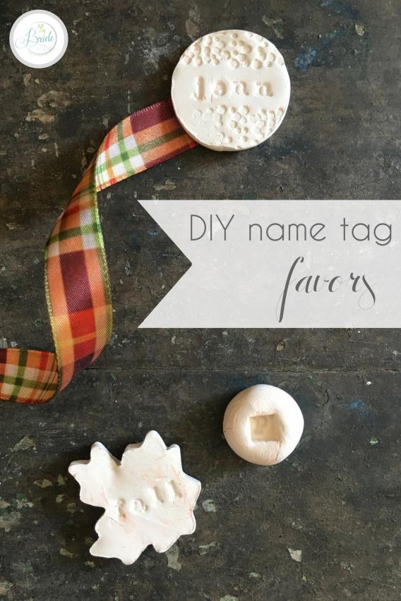 DIY Name Tag Favors as seen on Hill City Bride Virginia Wedding Blog