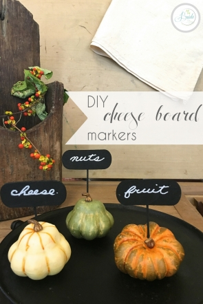 DIY Fall Cheese Board Markers as seen on Hill City Bride Virginia Wedding Blog Autumn