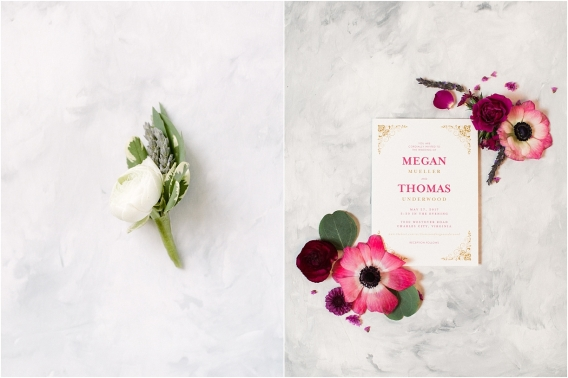 Historic Virginia Plantation Wedding as seen on Hill City Bride Blog by Rebekah Emily Photography - invitation, stationery