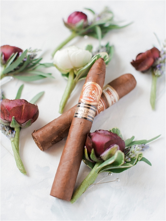 Historic Virginia Plantation Wedding as seen on Hill City Bride Blog by Rebekah Emily Photography - cigars