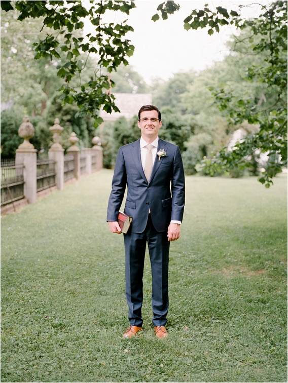 Historic Virginia Plantation Wedding as seen on Hill City Bride Blog by Rebekah Emily Photography - groom