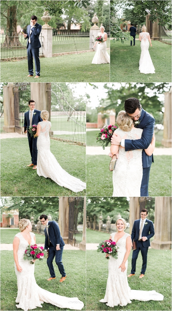 Historic Virginia Plantation Wedding as seen on Hill City Bride Blog by Rebekah Emily Photography - first look