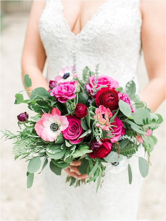 Historic Virginia Plantation Wedding as seen on Hill City Bride Blog by Rebekah Emily Photography - bouquet, flowers, anemone