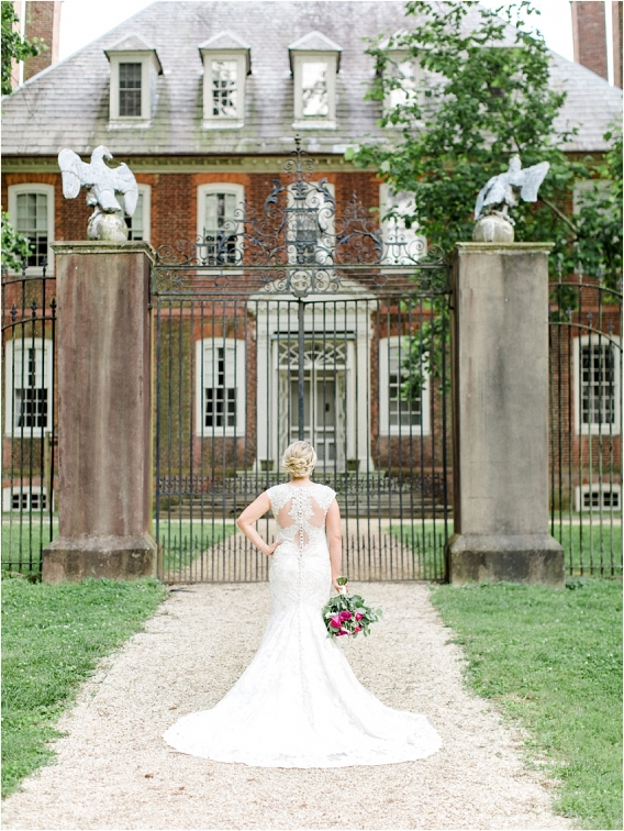 Historic Virginia Plantation Wedding as seen on Hill City Bride Blog by Rebekah Emily Photography - lace, gown, dress