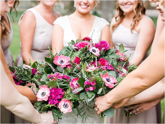 Historic Virginia Plantation Wedding as seen on Hill City Bride Blog by Rebekah Emily Photography - flowers, bouquets, bridesmaids
