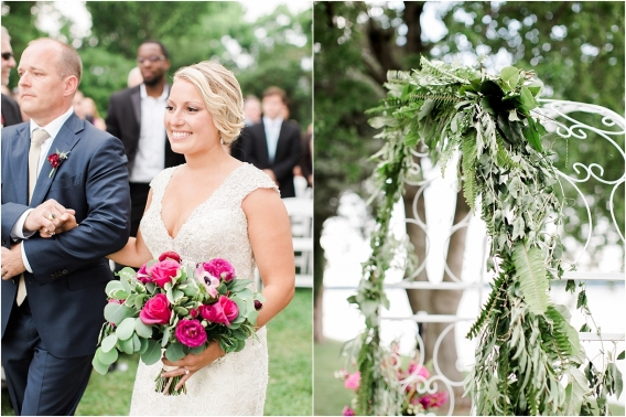 Historic Virginia Plantation Wedding as seen on Hill City Bride Blog by Rebekah Emily Photography - walk down the aisle, arch, ceremony
