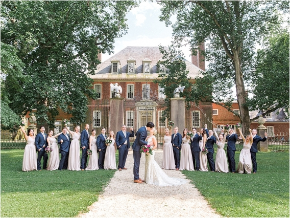 Historic Virginia Plantation Wedding as seen on Hill City Bride Blog by Rebekah Emily Photography - bridal party