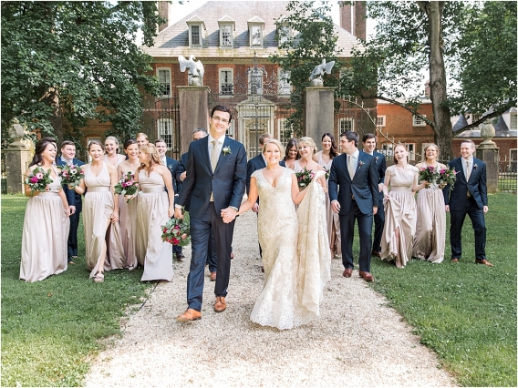 Historic Virginia Plantation Wedding as seen on Hill City Bride Blog by Rebekah Emily Photography - bridal party, attendants