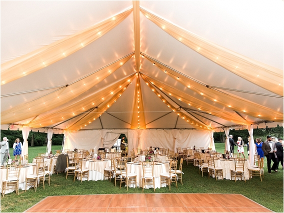 Historic Virginia Plantation Wedding as seen on Hill City Bride Blog by Rebekah Emily Photography - reception, tent