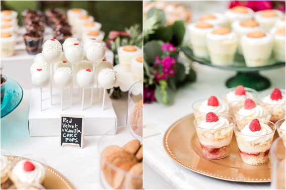 Historic Virginia Plantation Wedding as seen on Hill City Bride Blog by Rebekah Emily Photography - sweets, cupcake, cake pop, pops, dessert table