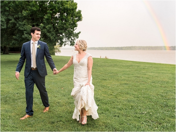 Historic Virginia Plantation Wedding as seen on Hill City Bride Blog by Rebekah Emily Photography - rainbow