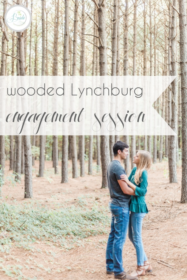 Wooded Lynchburg Engagement Session as seen on Hill City Bride Lynchburg Wedding Blog