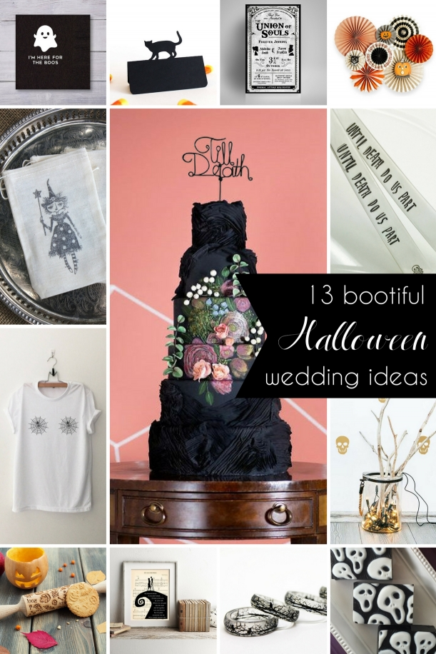 Bootiful Halloween Wedding Ideas as seen on Hill City Bride Virginia Blog and Magazine