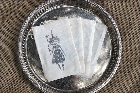 Bootiful Halloween Wedding Ideas as seen on Hill City Bride Virginia Blog via Etsy - witch, favor bags, treat