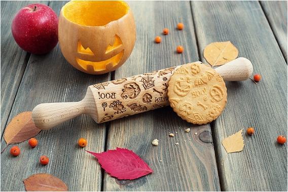 Bootiful Halloween Wedding Ideas as seen on Hill City Bride Virginia Blog via Etsy - cookie rolling pin, fall