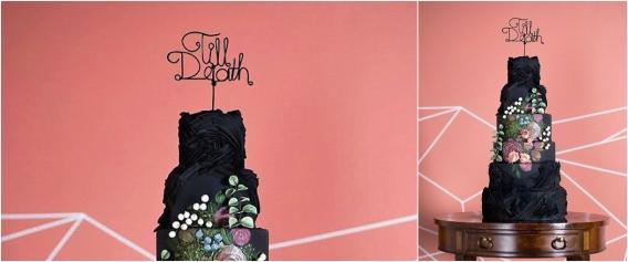 Bootiful Halloween Wedding Ideas as seen on Hill City Bride Virginia Blog via Etsy - cake topper, til death