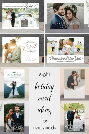 8 Holiday Card Ideas for Newlyweds - Hill City Bride Virginia Wedding Blog - Christmas - New Year's