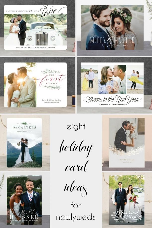 8 Holiday Card Ideas for Newlyweds - Hill City Bride Virginia Wedding Blog - Christmas - New Year