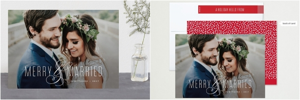 Holiday Card Ideas for Newlyweds as seen on Hill City Bride Virginia Wedding Blog - Minted, photo card, christmas card