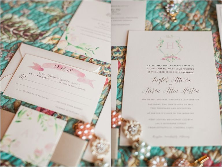 Virginia Barn Wedding as seen on Hill City Bride Wedding Blog - invitation, stationery