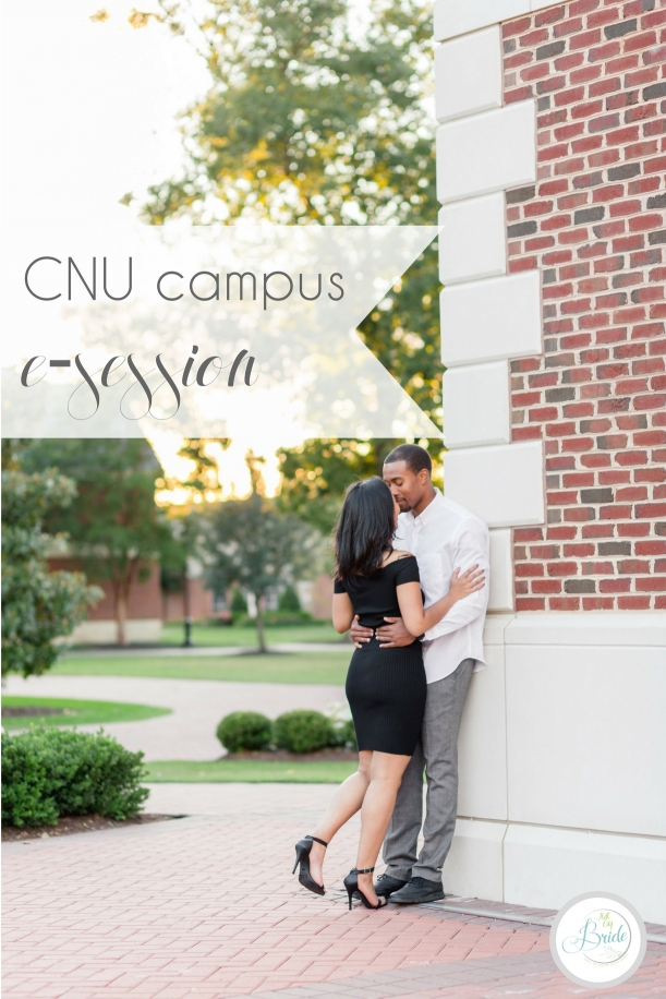 CNU Engagement Session as seen on Hill City Bride Wedding Blog Norfolk Christopher Newport University African American
