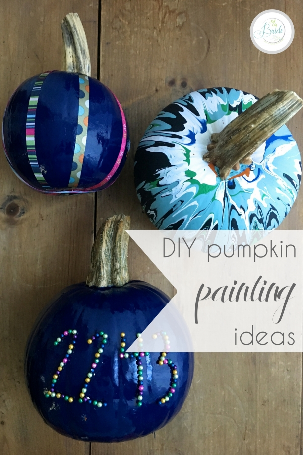 DIY Pumpkin Painting Ideas as seen on Hill City Bride Virginia Blog