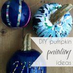 DIY Pumpkin Painting Ideas as seen on Hill City Bride Virginia Blog