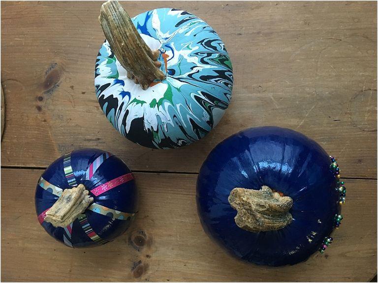DIY Pumpkin Painting Ideas as seen on Hill City Bride Virginia Wedding Blog Thanksgiving Harvest