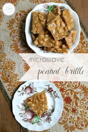 Easy Homemade Microwave Peanut Brittle as seen on Hill City Bride Virginia Wedding Blog - favor, holiday, treat, gift, snack, entertaining