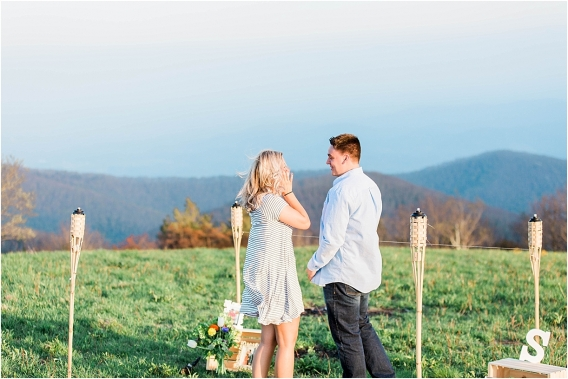 Surprise Wedding Proposal as seen on Hill City Bride Virginia Blog by Amanda Somerville Photo
