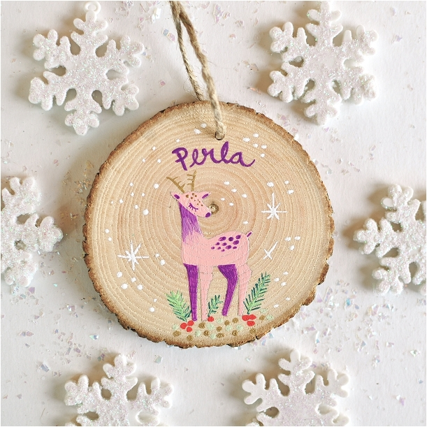 Flower Girl Gift Ideas as seen on Hill City Bride Virginia Wedding Blog - ornament, personalized, wood, rustic