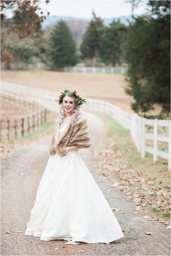 Horses and Hot Cocoa Winter Bridal Session as seen on Hill City Bride Virginia Wedding Blog
