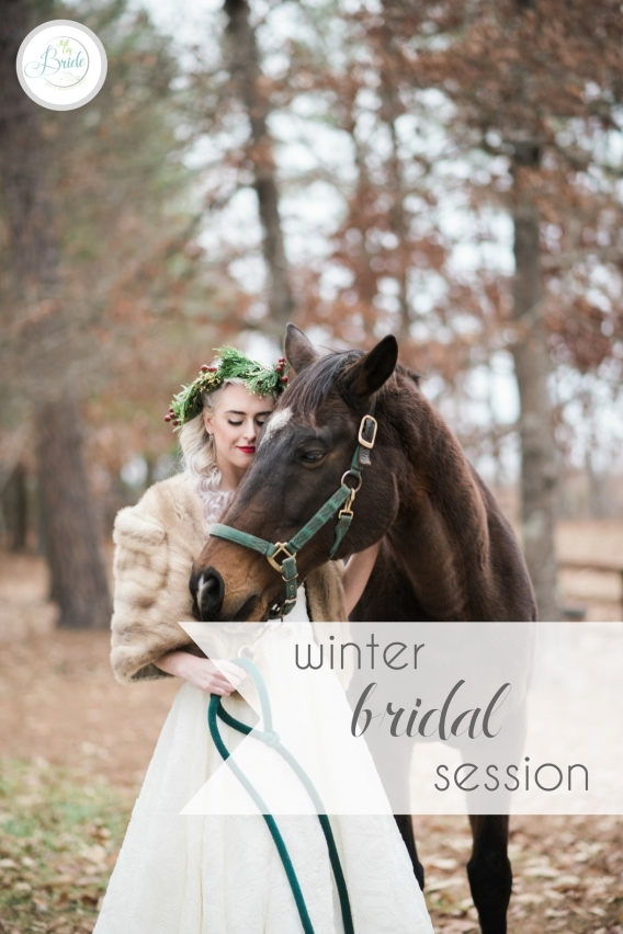 Horses and Hot Cocoa Winter Bridal Shoot as seen on Hill City Bride Virginia Wedding Blog