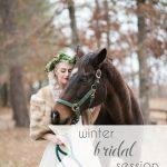 Horses and Hot Cocoa Winter Bridal Shoot as seen on Hill City Bride Virginia Wedding Blog