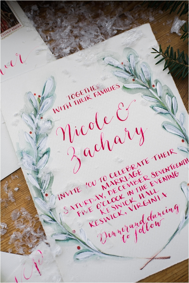 Holiday Berries Winter Styled Shoot as seen on Hill City Bride Virginia Wedding Blog - invitation, christmas, holiday