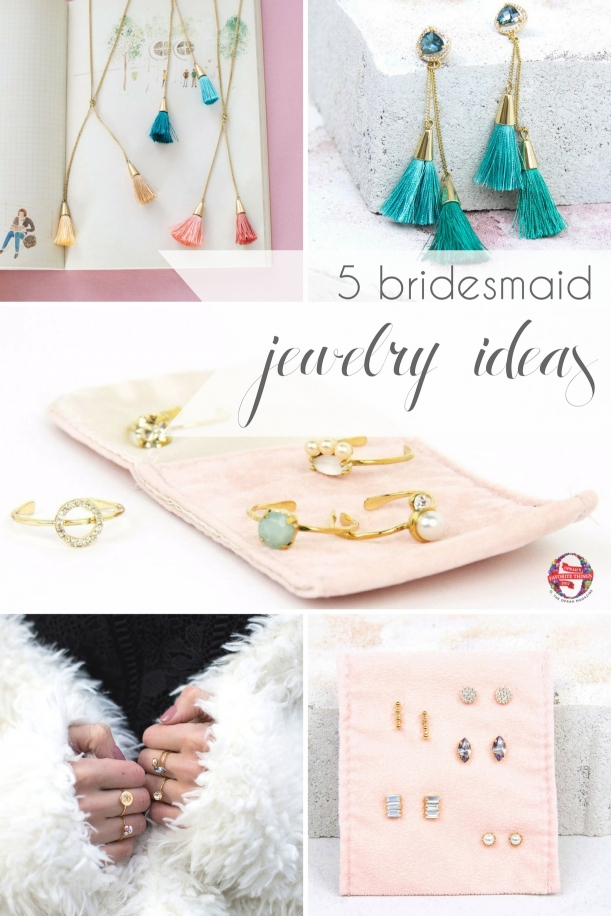 Bridesmaid Jewelry Ideas from Violet and Brooks as seen on Hill City Bride Virginia Wedding Blog