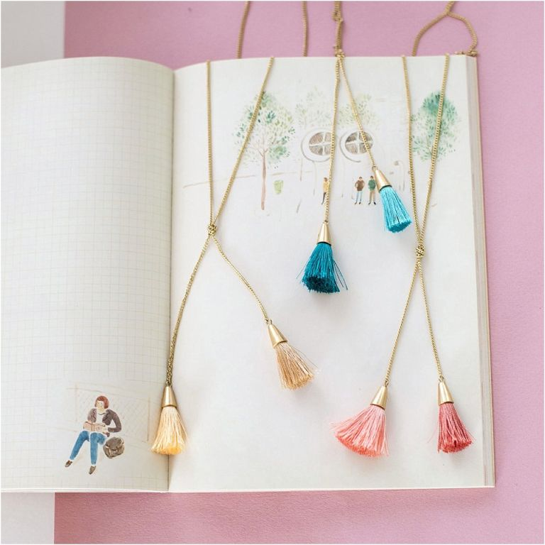 Bridesmaid Jewelry Ideas from Violet and Brooks as seen on Hill City Bride Virginia Wedding Blog - tassel necklace