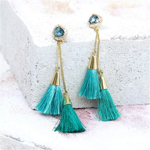 Bridesmaid Jewelry Ideas from Violet and Brooks as seen on Hill City Bride Virginia Wedding Blog - tassel earrings