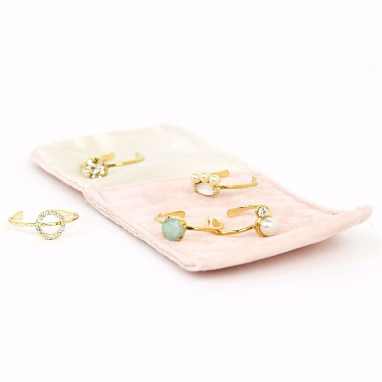 Bridesmaid Jewelry Ideas from Violet and Brooks as seen on Hill City Bride Virginia Wedding Blog - ring set