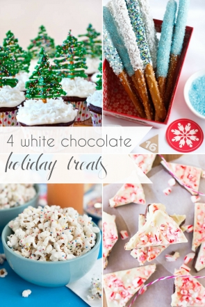 White Chocolate Holiday Treats DIY as seen on Hill City Bride Virginia Wedding Blog