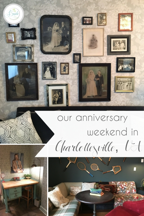 Our Anniversary Weekend in Charlottesville, VA featuring Graduate Charlottesville | Hill City Bride Virginia Wedding Travel Blog