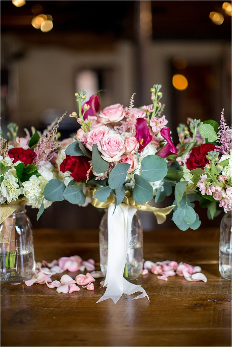 Red Pink Winter Wedding Inspiration   Hill City Bride Virginia Wedding Blog